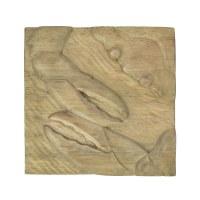 """10"""" Square Natural Wooden Crab Decorative Wall Plaque"""