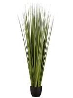 "66"" Dark Green Artificial Reed Grass in Black Pot"