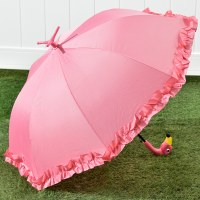 """31"""" Pink Frilly Footed Flamingo Umbrella"""