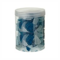 "5"" Jar of Decorative Blue Sea Glass Shards"