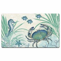 "20"" x 30"" Blue Oceana Seahorse and Crab Cushioned Mat"