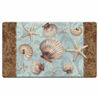 "20"" x 30"" Blue and Brown Sea Life Charm Cushioned Mat"