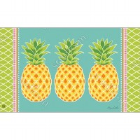 "18"" x 30"" Multicolor Preppy Pineapple Doormat"