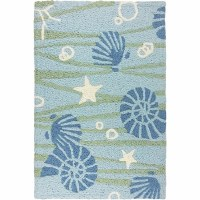 1 ft. 9 in. x 2 ft. 9 in. Blue and Green La Mer Sea Life Rug