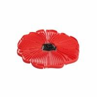 "6"" Red Silicone Poppy Flower Trivet"