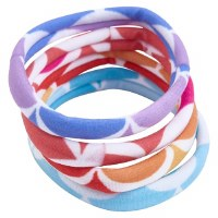 "2"" Round Multicolor Elastic Mermaid Tail Hairbands"