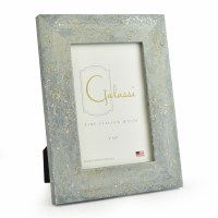 "4"" x 6"" Blue with Silver Accents Galassi Photo Frame"