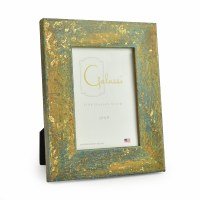 "3"" x 5"" Teal with Gold Accents Galassi Photo Frame"
