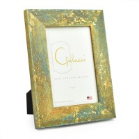 "4"" x 6"" Teal with Gold Accents Galassi Photo Frame"