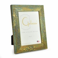 "5"" x 7"" Teal with Gold Accents Galassi Photo Frame"