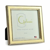 "4"" x 4"" Square Cream and Silver Galassi Photo Frame"