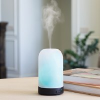 Frosted Glass Ultrasonic Fraggrance Aroma Steam Diffuser