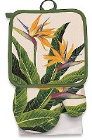 "26"" x 16"" Bird of Paradise Kitchen Set"