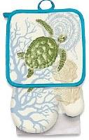 "26"" x 16"" Sea Turtle Kitchen Set"