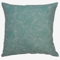 "17"" Square Seafoam Green Palm Beach Pillow"