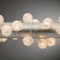 "40"" Warm White Crackled Frost Orb 20 LED Light String"