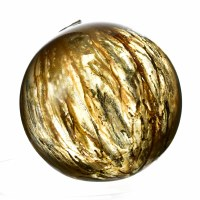 """5"""" Tan Sutters Mill Painted Blown Glass Decorative Orb"""