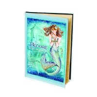 """8"""" Aqua and Blue Become Your Inspiration Mermaid Journal"""