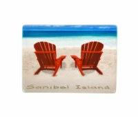Sanibel Two Red Chair Magnets