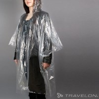 "5"" Clear Plastic Portable Emergency Poncho"