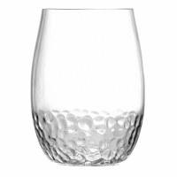 10 oz Clear Acrylic Hammered Stemless Wine Tritan