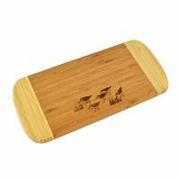 "6"" x 13"" Two Tone Sandpipers Wood Cutting Board"