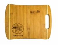 "9"" x 12"" Sanibel Island Two Tone Sand Dollar Cutting Board"