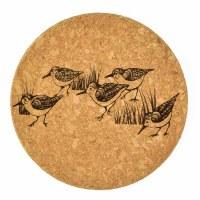 """4"""" Brown Cork Sandpiper Coaster"""