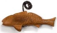 """6"""" Teak Red Fish Fan Pull"""