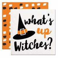 """5"""" Square What's Up Witches Beverage Napkins"""