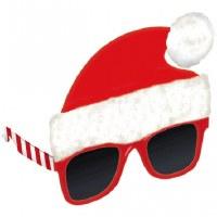 Red and White Santa Hat Sunglasses