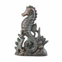 """6"""" Cast Iron Seahorse Door Stop"""