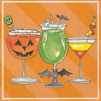 "5"" Spooky Cocktail Beverage Napkins"