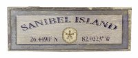 "11"" x 32"" Purple Sanibel Island with Sand Dollar Wood Wall Plaque"
