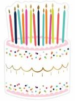 """9"""" Birthday Cake Die Cut Dessert Plates"""