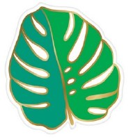 "7"" Monstera Leaf Die Cut Paper Dessert Plates"