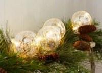 4.5' LED Light Sting Glass Ball Ornaments