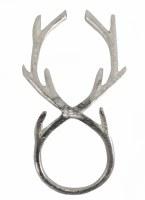 """5"""" Silver Brass Reindeer Antler Napkin Ring"""