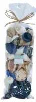 """13"""" Bag of Blue Decorative Seashells"""