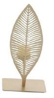"""10"""" Gold Metal Leaf Votive Holder"""