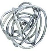 "5""  Modern Silver Wire Sphere"