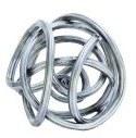 "3""  Modern Silver Wire Sphere"