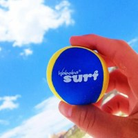 Yellow and Blue Waboba Surf Ball
