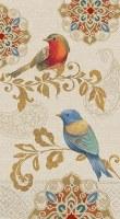 "8"" Rainbow Birds Guest Towels"