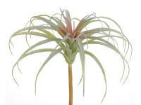 """11"""" Green and Red Faux Spider Bromeliad Bush"""