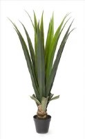 """43"""" Green Faux Aloe Plant Potted"""