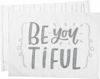 """21"""" x 28"""" Gray and White Be You Tiful Cotton Pillow Case"""