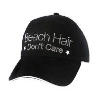 Black Beach Hair Don't Care Cap