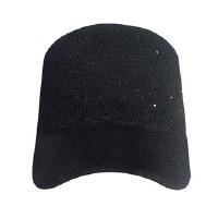 Black Woven Sequin Cap