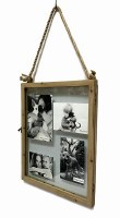 "21"" x 16"" Wood Framed Floating Photo Holder"